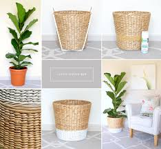Ikea Outdoor Planters by Diy Planter For Fiddle Leaf Fig Tree The Inspiration Exchange