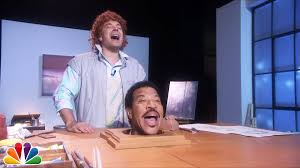 lionel richie cheese plate jimmy fallon and lionel richie recreate the classic sculpture