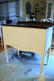 Chalk Paint Table And Chairs Sideboard Makeover W Java Gel U0026 Chalk Paint Themed Furniture