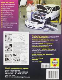 toyota corolla automotive repair manual 1997 to 2006 haynes