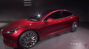tesla model 3 elon musk unveils tesla u0027s cheapest electric car