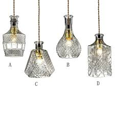 Cable Pendant Lighting Gloria Vintage Decanter Bottle Pendant Light With Adjustable Cable