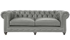 Leather Tufted Sofas by Durango Rustic Grey Leather Sofa Leather Sofas Kiln Dried Wood