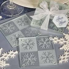 coaster favors snowflake coaster wedding favors unique favors