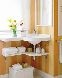 Ideas For Bathroom Storage In Small Bathrooms by Bathroom Charming Bathroom Design With Corner Wall Mounted