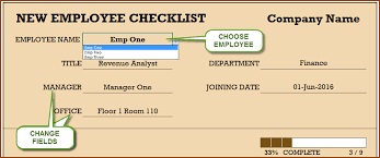 Free Change Order Template Excel Employee Checklist Free Excel Template Indzara