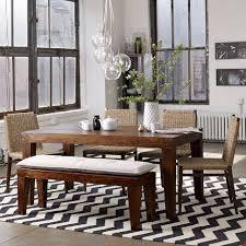 carroll farm dining table west elm rug chevron rugs and room