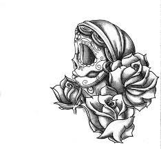 skull designs sugar skull and roses