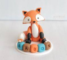 woodland cake toppers ready made woodland animal cake toppers fox raccoon deer