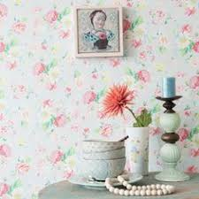 alice wallpaper in pink and teal from homebase ideal for the