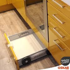 tiroir pour meuble de cuisine tiroir sous plinthe pour meuble de cuisine l60 cm sokleo interior