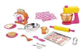 buy barbie mattel v8656 barbie doll and kitchen accessory set