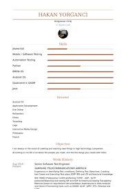 software test engineer resume samples visualcv resume samples