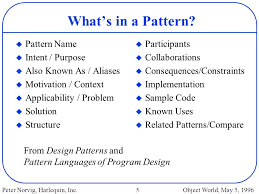 pattern language of program design design patterns in dynamic programming ppt download