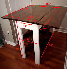 drop leaf kitchen islands diy drop leaf kitchen island cart bachelor on a budget