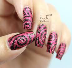 Halloween Swirl Nail Design Textured Nail Art Feat China Glaze