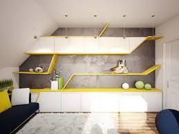 chambre ado originale chambre originale pour ado touches jaunes sympa cette int rieur