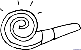 party blower coloring page clip art sweet clip art