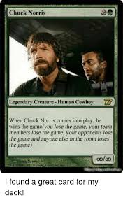 Chuck Norris Funny Meme - chuck norris legendary creature human cowboy zr when chuck norris