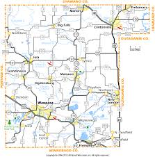 Counties In Wisconsin Map by Waupaca County Wisconsin Map