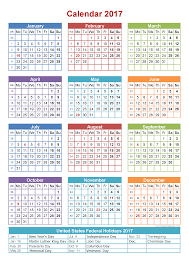 2017 calendar with holidays blank calendar printable