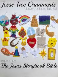the bloom tree ornaments and the jesus storybook