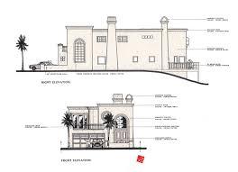 custom home remodel italian villa elev plans san clemente med