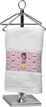 sugar skulls finger tip towel personalized potty