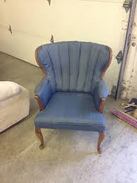 Peacock Blue Chair Refinished Blue Peacock Velvet Wingback Chairs Withheart