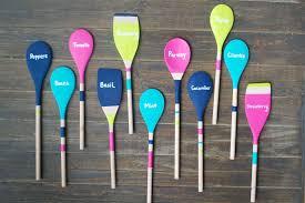 garden markers diy wooden spoon garden markers