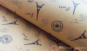 cheapest place to buy wrapping paper vintage eiffel tower printing gift wrapping paper birthday wedding