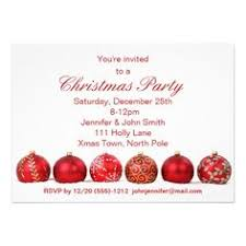 Christmas Ornament Party Invitations - red u0026 white snowflake ornament christmas party card snowflake