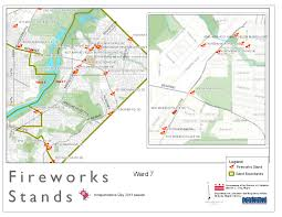 Dc Zoning Map Map Of Fireworks Stands Ward 7 2011 Dcra