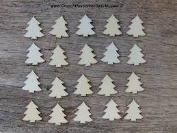 Wood Christmas Ornament Mini Wooden Christmas Tree Ornaments Set Of 25 For Sale Church