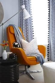 Geometric Orange Curtains Blue U0026 Orange Boy U0027s Nursery Design With Blue Walls Painted Para