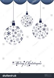Blue Snowflakes Decorations Blue Snowflake Hanging Decorations On White Stock Vector 40697449