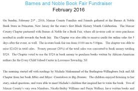 Barnes And Noble Trenton Nj Chapter Fundraising Mercer County Nj Chapter