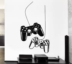 gamer home decor best hard gamer wall decal gaming joystick
