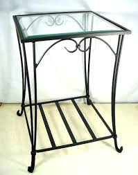 Iron Side Table Wrought Iron Accent Table Beautiful Iron Accent Table With Elm