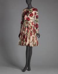 dolce u0026 gabbana rose print chiffon ballerina dress in pink lyst