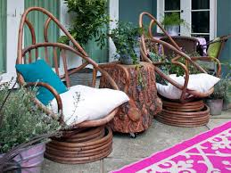 Dining Table With Rattan Chairs Furniture 20 Mesmerizing Images Diy Rustic Outdoor Dining Table