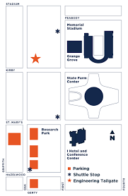 Uiuc Campus Map Homecoming Tailgate Illinois Engineering