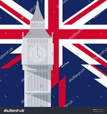 London Flag Vector Big Ben London Illustration On Stock Vector 472878310