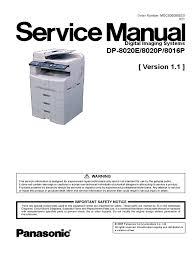 panasonic dp 8020 8016 service v1 1 image scanner fax