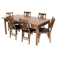 mission style dining room set boraam bloomington dining table set black cherry hayneedle