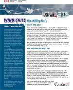 Wind Chill Table Wind Chill Index Canada Ca