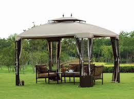 patio backyard patio gazebo with canopy in diy design made of
