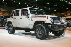 open jeep modified in white colour 2017 jeep wrangler rubicon recon looks trail ready in chicago