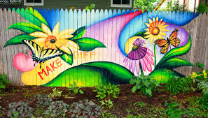 mural art in the garden to cover graffiti shawna coronado