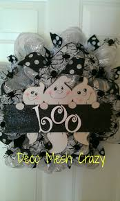 Deco Mesh Halloween Wreath Ideas by 702 Best Halloween Wreath Images On Pinterest Halloween Crafts